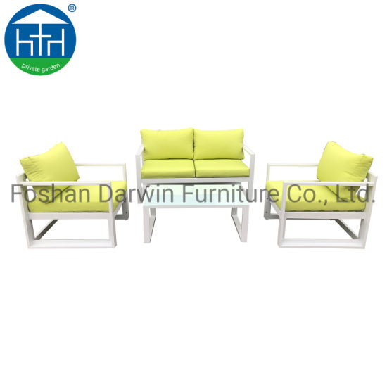 China Outdoor Furniture Double Seat Sofa Set with Hight Quality Metal Weather Risistant