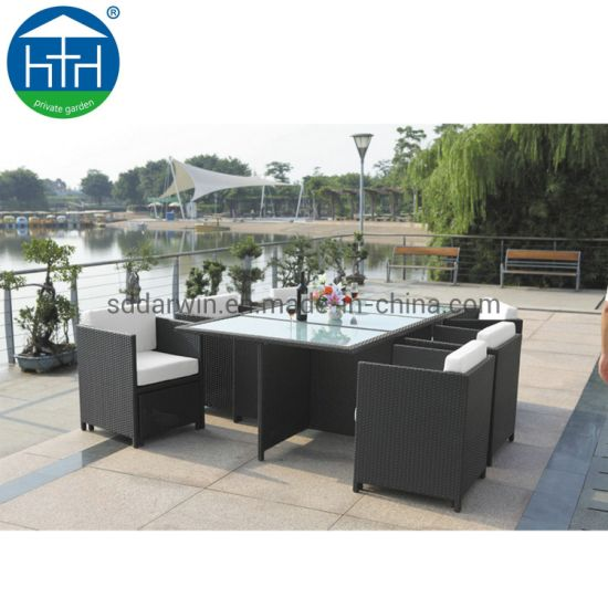 China Modern Garden Luxury All Weather Restaurant Table Chairs Outdoor furniture Aluminum Patio Dini pictures & photos