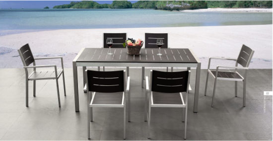 China Restaurant Outdoor Furniture Dining Table 6 Chairs
