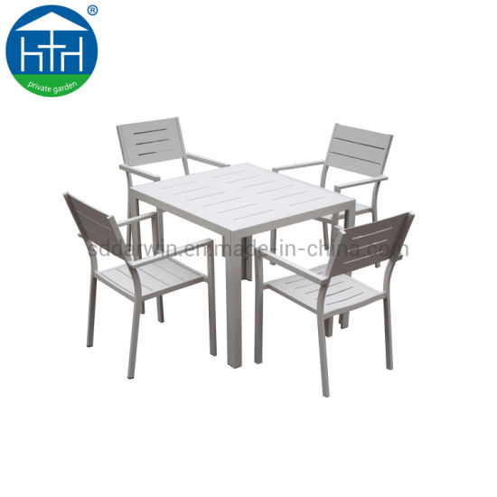 China Aluminum Garden Table Wholesale Outdoor Polywood Leisure Chair Table Set Patio Hotel Garden Fu