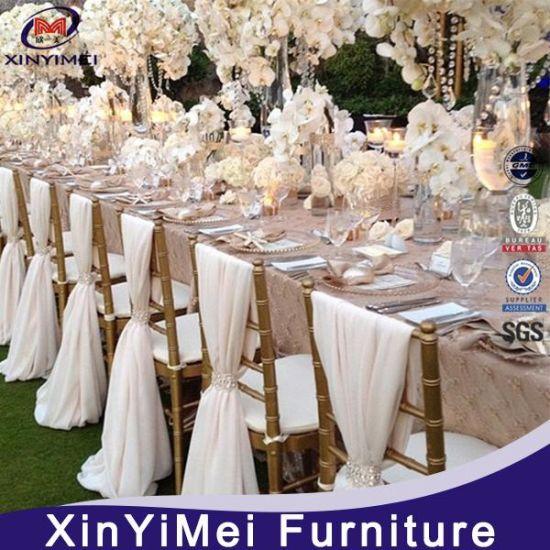 China Price Aluminum Wedding Chiavari Tiffany Chair in Hotel Chairs Restaurant Chairs