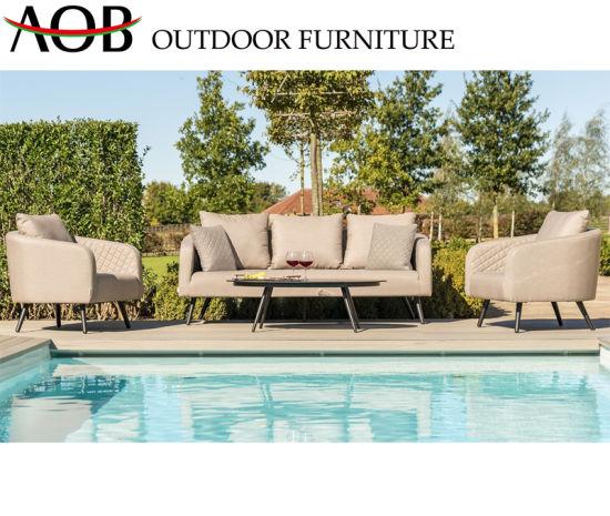 China Modern Outdoor Garden Hotel Home Livingroom Fabric Sectional Lounge Leisure Sofa Furniture