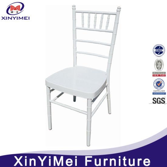 China White Party Hotel Wedding Banquet Rental Chiavari Silla Tiffany Chair