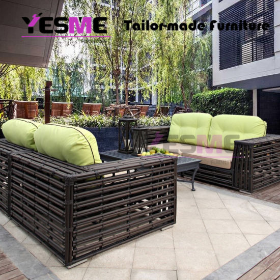China Outdoor Rattan Garden Sofa Set Patio Furniture Rattan Wicker