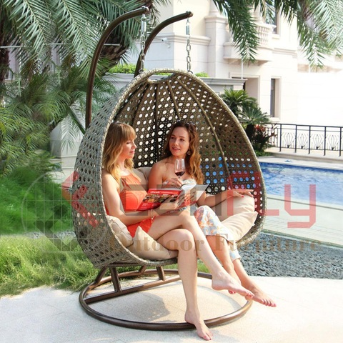 2 seater garden rattan swing hanging egg chair hammock outdoor