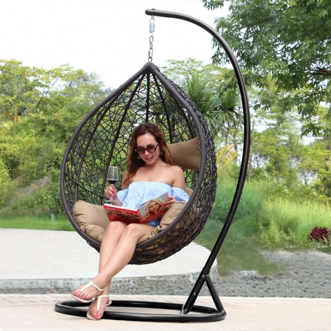 Egg Shaped Adult Helicopter Swing Chairs For Patio Or Indoor Chair