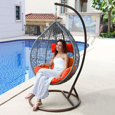 Furniture Outdoor Outdoor Rattan Hanging Wicker Swing Chair Hammocks Egg pictures & photos