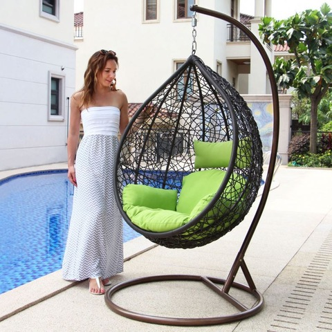 Miwwelen Outdoor Outdoor Rattan Hanging Wicker Swing Chair Hammocks Egg