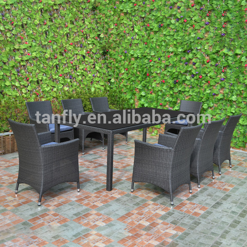 Garden Furniture Wicker Rattan 8 Seater outdoor Dining Setting Table and Chairs
