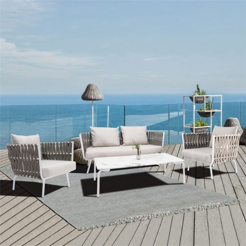 High End Patio Furniture China Supplier Garden Rope Latest Sofa Design Set pictures & photos