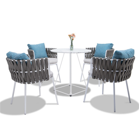 Ga Opin Patio Furniture Rope Ọgba aga ita