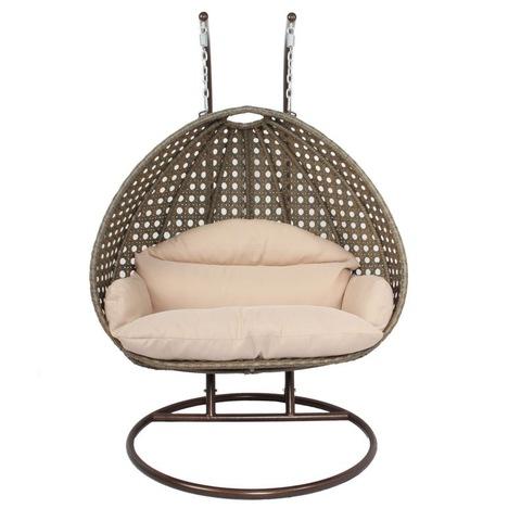 Dzelzs āra mēbeļu karājas šūpoles krēsls, āra divvietīgs sēdeklis, attēli un fotoattēli