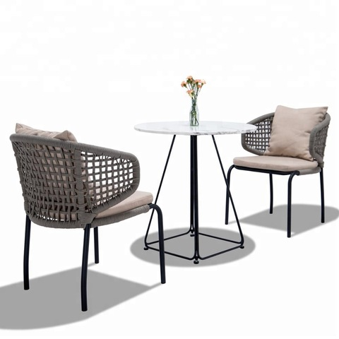 Perabot Luaran China Europe Woven Rope Outdoor Furniture