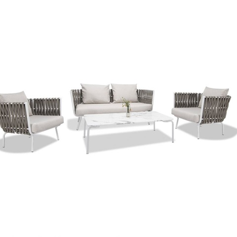 Outdoor Hot Sale Furniture Modern Design Terrace Furniture Living Room Sofa Set