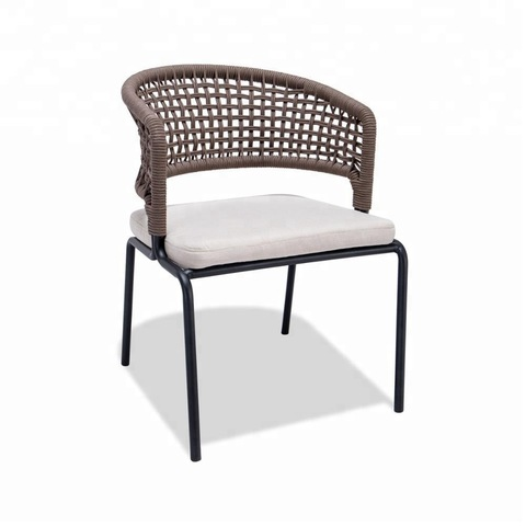 Outdoor Rope Chair Furniture with Cushion