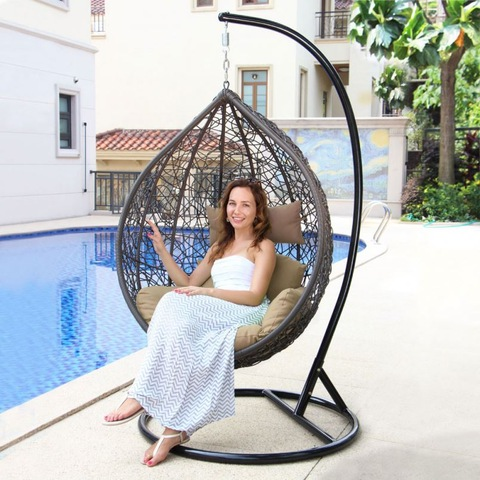 Patio Swing For Cheap Rattan Hanging Chair Outdoor 2 Seater Garden