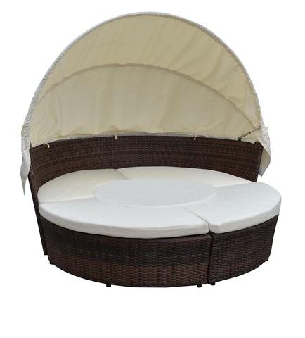 TF-9444 יסודות קש חיצוניים כיסא נוח קש נצרים מיטת ראטאן עם סט פטיו + שולחן קפה ותמונות