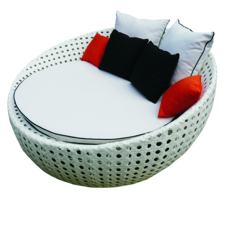 I-TF-9444 rattan Iziseko ezingaphandle zaLanga iLounger iWicker Rattan Day Bed Bed Patio Set + coffee Table