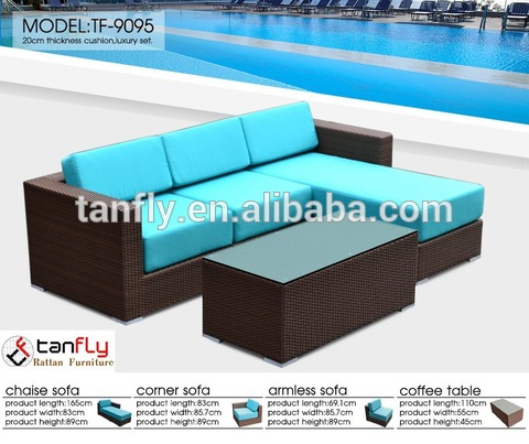 verstellbar modern Rattan Miwwel Hot Sale modular Rattan Outdoor Sofa