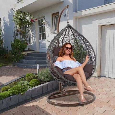 fashion garden cheap outdoor patio rotan hanging egg swing chair