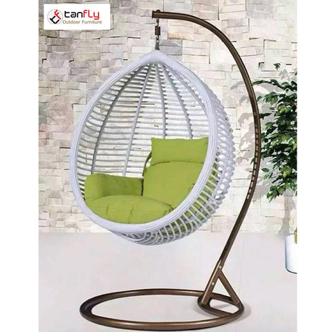 2018 Foshan Patio Wicker Hanging Swing Egg صندلی باغ نوسان