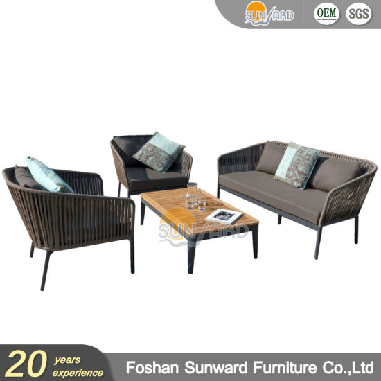 China Cozy Modern Outdoor Polyester Rope Resort Leisure Sofa Furniture Sets pictures & photos