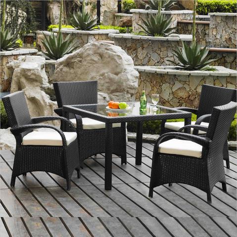 最畅销的现代供应商和制造商户外藤桌椅子传统露台花园灯芯