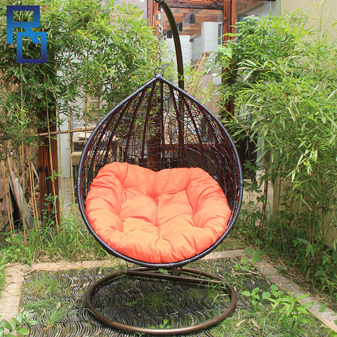 Black Rattan Furniture Hammocks Wicker Egg Hanging Outdoor Chair