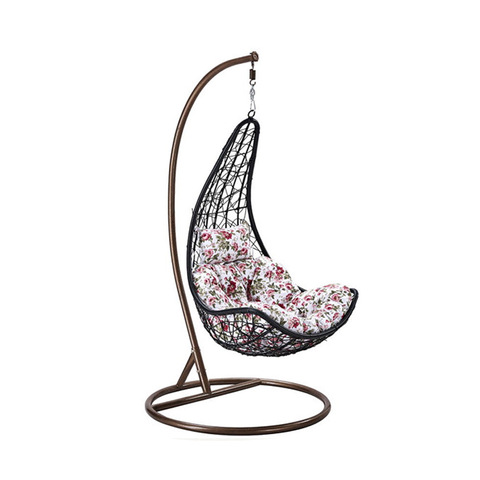 Cheap Patio Wicker Rattan Swings Outdoor Hanging Chair With Metal Stand Hot Sell