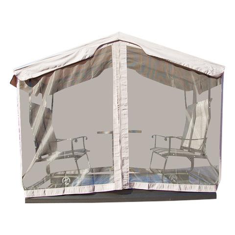 સ્વિંગ ખુરશીનો બગીચો 4 સીટર રોકિંગ ખુરશીની છતની છતની આઉટડોર મેટલ પેશિયો ઘડાયેલા લોખંડના પેશિયોને ચિત્રો અને ફોટા દોરે છે