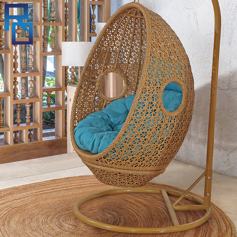 Outdoor Furniture Patio Swing Wicker Rattan Swing Outdoor Rattan Adult Hanging Egg Swing Chair