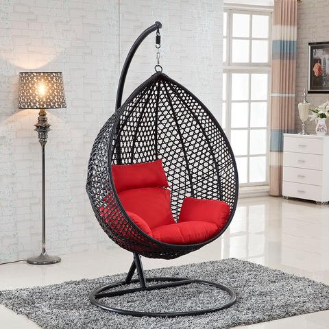 Outdoor Hanging Hammock Egg Basket PE Rattan Swing Chair
