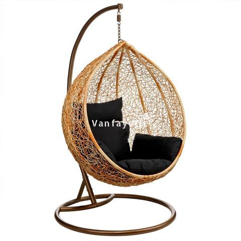 Patio Swing Chair Круглы вісячы крэсла Яечны крэсла Канада Мэбля на адкрытым паветры Арэлі Wicker Swing малюнкі і фота