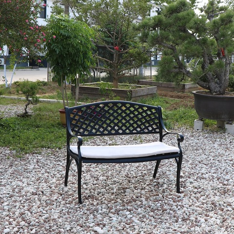 8 PCS Outdoor Dining chair dan meja set perabot taman aluminium cor