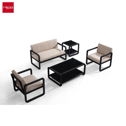 Goss Aluminium Patio Metal Outdoor Miwwel Gaart Sofa Set
