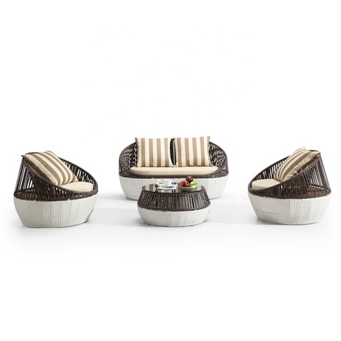 Perabot Rotan Piranti Topan Rotan Sofa Set Milano Outdoor Furniture