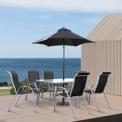 כיסא שולחן חיצוני עם ריהוט פטיו גן כיסאות ניתנים לגיבוש עם שולחן ושמש תמונות ותמונות