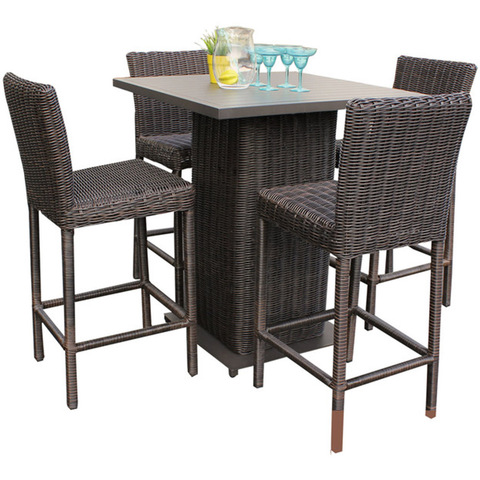 Hot Sale Exclusive Outdoor Poly Rattan patio furniture Nicely woven rattan outdoor Bar table set fur pictures & photos