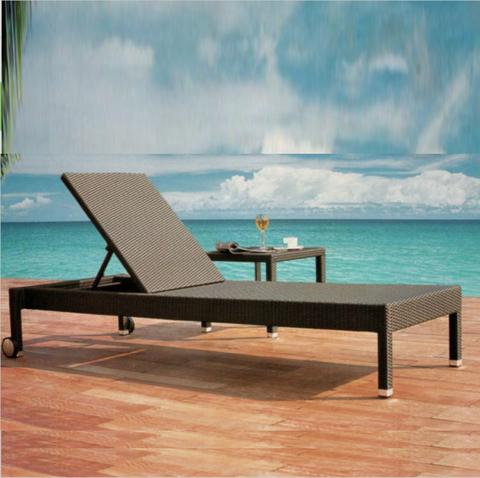 酒店别墅花园庭院铝制躺椅沙滩藤椅躺椅游泳池藤太阳