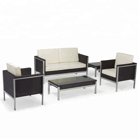 Fàájì Rattan Sofa Ita gbangba Patio Furniture