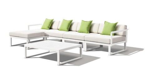 Conxunto moderno de sofás e mesas de mobiliario de xardín para patio exterior para fotos e fotos de hoteis e resorts