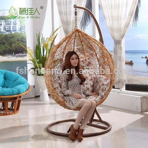 Izitulo zangoku zokuhlala kwigumbi lokuhlala ngaphakathi Rattan Swing chair kwiGumbi lokuhlala