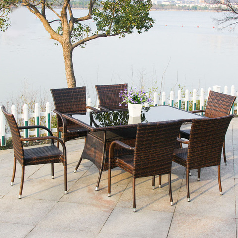 Popular Novus Design Carl Outdoor Wicker Furniture Rattan Stibadium Patio Furniture