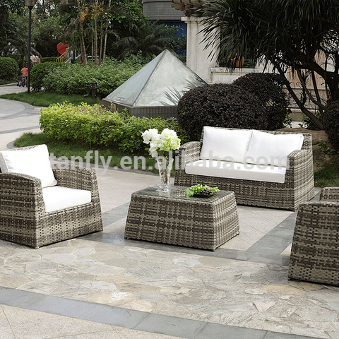 Set Sofa Perabot Luar Rotan Rotan Wicker