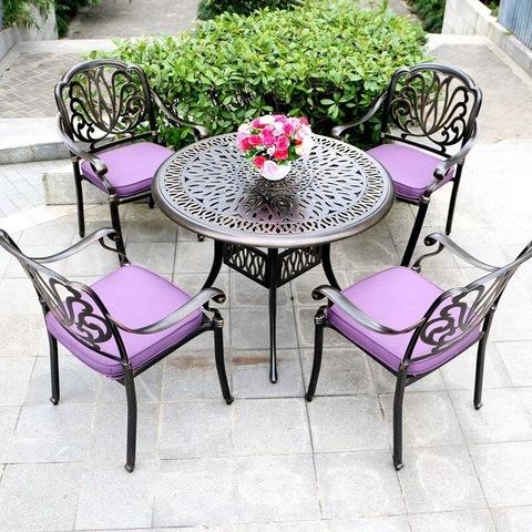 आउटडोअर फर्निचर सामान्य वापर आणि अॅल्युमिनियम मेटल प्रकारची अंगठी खुर्ची