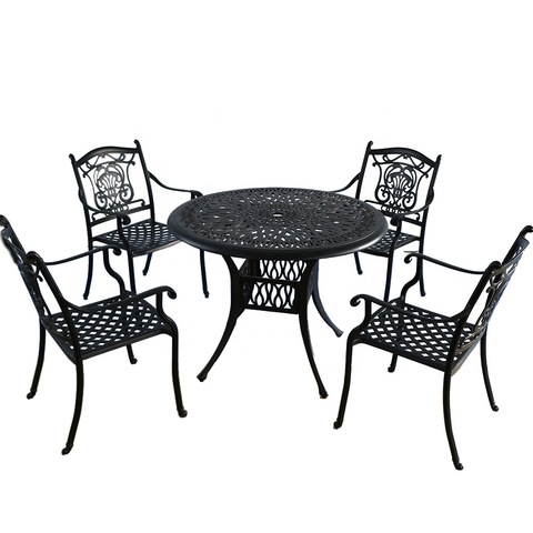 Outdoor Metal Material Garden Furniture Sets