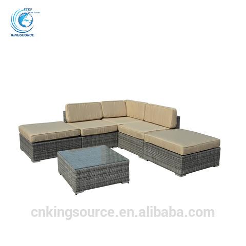 Outdoor wicker furniture garden sectional sofa set KS-RS022