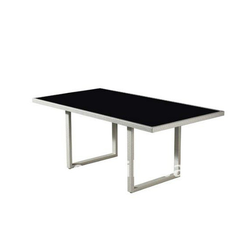 PE rattan table NT11302 rattan dining set