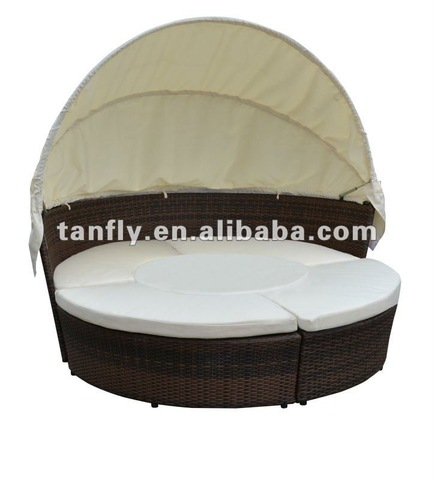 TF-9426 Port Royal Luxe Rattan Garden Day Bett Patio Sonnenduerf