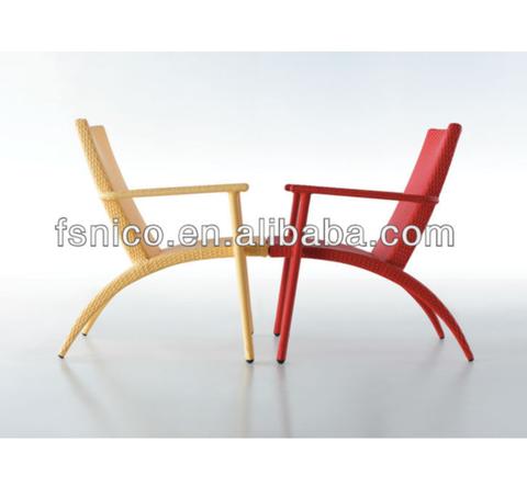 Wicker chair NC10401 PE rattan chair colorful armchair
